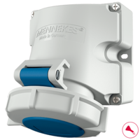 Details about  /Mennekes IP44 Red Panel Mount 4P+E Industrial Power Socket 230 V Rated At 16A